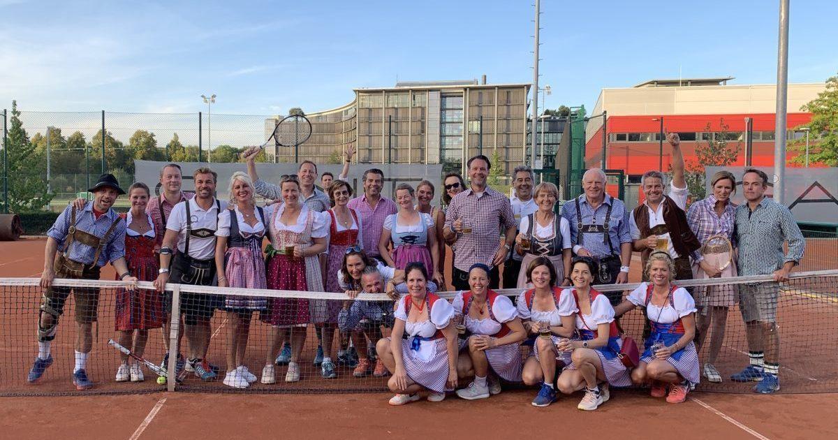 Riesen-Gaudi beim 1. Wiesn Tennis Cup