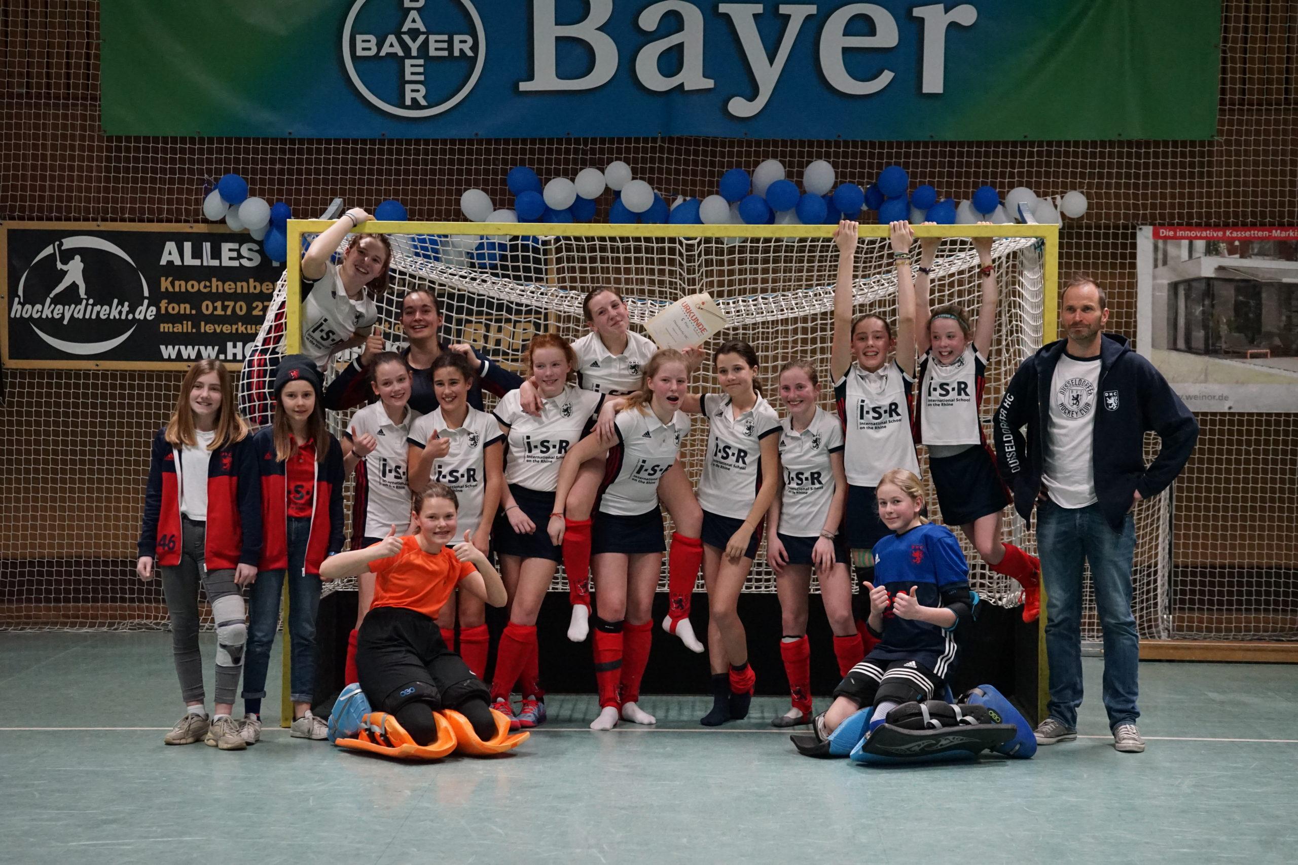 B1 Mädchen belegen 5. Platz bei Westdeutscher Hallenmeisterschaft