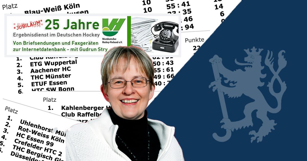 Gudrun Stry: 25 Jahre Ergebnisdienst