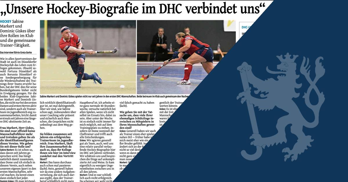 """""""Unsere Hockey-Biografie im DHC verbindet uns"""""""