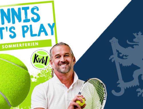 "KVW ""Let's Play Tennis"" in den Sommerferien"
