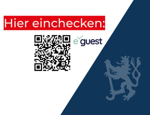 Besucherregistrierung mit e-guest (Update 21.10.2020)