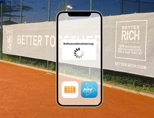 Tennisplatzbuchung bekommt Upgrade