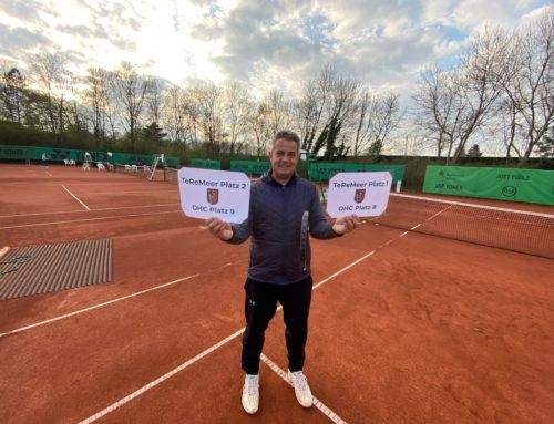 Tennisspiel im Teremeer in Büderich ist gestartet