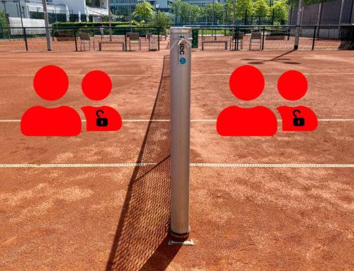 Doppel und Gruppentraining wieder erlaubt